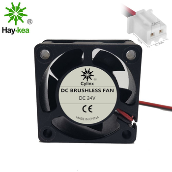 2 pcs 4020 40X40X20mm fan DC 5V 12V 24V 2-Pin 5 Blade Cooler Brushless Mini Cooling Fan 4020 2pcs gdstime dc 24v 2 pin ball bearing 40mm mini small pc cpu cooling fan cooler 40x40x20mm 4020