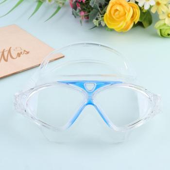 Unisex okulary pływackie wodoodporne przeciwmgielne duże ramki ochronne gogle pływackie kryty odkryty okulary pływackie (Royal Blue) tanie i dobre opinie
