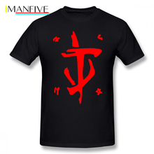 Doom T Shirt Mark Of The Slayer Red T-Shirt Print 100 Percent Cotton Tee Male 6xl Short Sleeve Cute Beach Tshirt