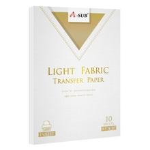 Inkjet light T-Shirt Transfer Photo Paper for Light Color Fabric Cotton Garment 10 sheets 10 sheets a4 inkjet transfer paper transfer paper for t shirt