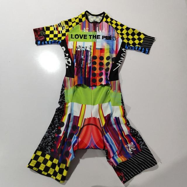 2020 amo A Dor Speedsuit Speedsuit Trisuit Triathlon Dos Homens Ciclismo Skinsuit Manga Curta Maillot ciclismo Roupas de Corrida #01 3