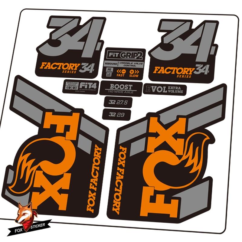 2020 FOX 34 Front Fork Sticker factory Mountain Bike Fox34 Cycling Dceal