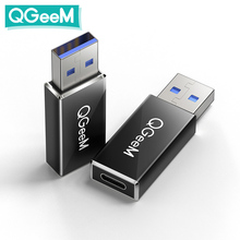 QGeeM USB 3.1 Type C Female to USB 3.0 Male Port Adapter 10Gbps Type A Connector Data Sync Adapter Connector for Macbook Google