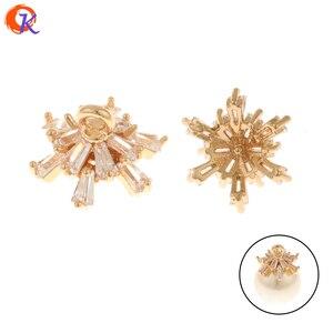 Cordial Design 40 sztuk 10*10MM DIY biżuteria złącza/CZ Charms/kolczyki ustalenia/czapki kształt/Hand Made/wisiorek/biżuteria akcesoria