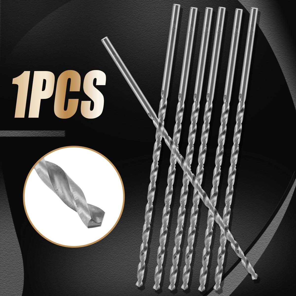 1pc 4-10mm HSS Twist Drill Bit Extra Long 200mm Straight Shank Drill Bit For Metal Plastic Power Tool