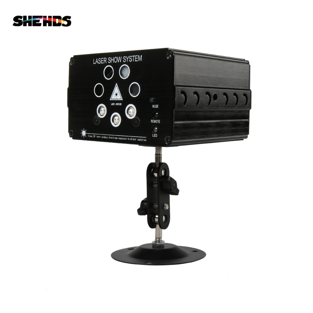 SHEHDS Professional Lighting Wireless Control Seven Hole Laser-Red Green Control Mode Suitable For Dj Disco Club Party Wedding