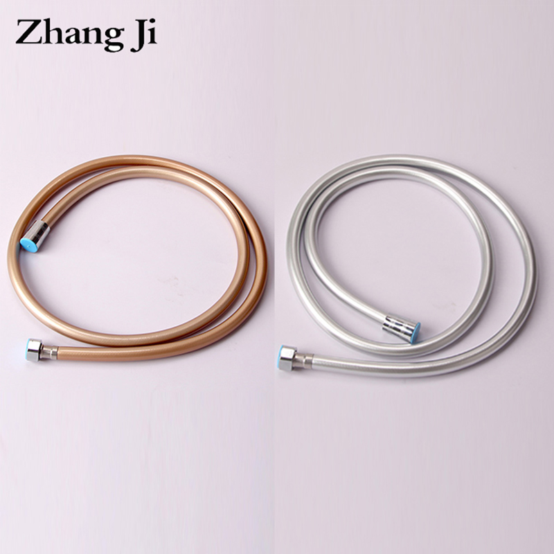 ZhangJi Bathroom 1.5m PVC Shower Hose Explosion-proof 5 Layers Thickened Water Pipe Flexible Universal shower Accessories
