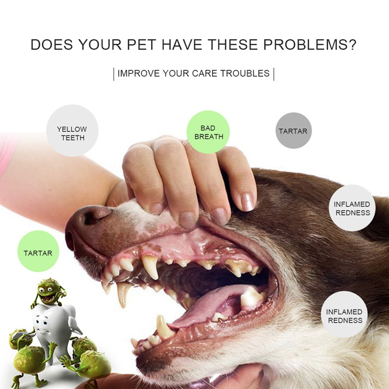 Dog Pet Finger Toothbrush Teddy Dog Brush Pet Dogs Toothbrush Super Bad Breath Tartar Teeth Tool
