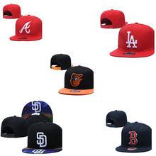 Gorras de béisbol ajustadas para hombre y mujer, gorros de calle de Los Ángeles, ajustables, hip hop, SD, para correr, playa, Mitad plana, 62 estilos
