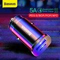 Автомобильное зарядное устройство Baseus 30 Вт Quick Charge 4 0 3 0 Для Xiaomi Mi9 Samsung S9 Fast PD AFC SCP для Huawei Supercharge автомобильное зарядное устройство для телефо...