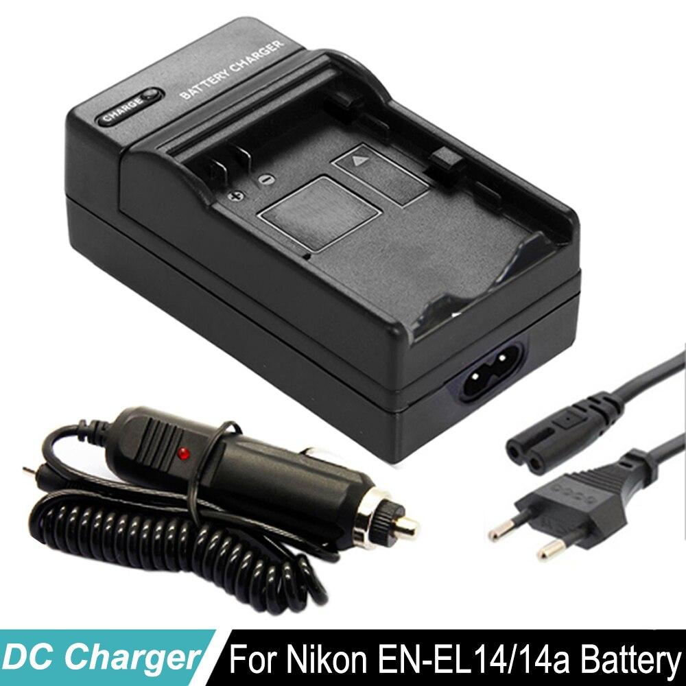 Ladegerät für Nikon EN-EL14 CoolPix P7700 P7800 D5600 D3300 D3400 Charger 12V