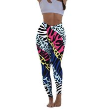 Women Print Hip Tightness Exercise Running Yoga Pants Seamless Leggings Sport Women Fitness Gym Leggings Gym Sharks Yoga Legging(China)