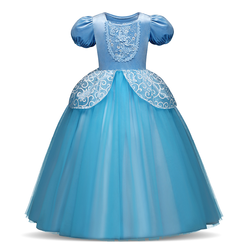 Girls Princess Dress for Kids Cosplay Costume Halloween Party Dresses Role-play Clothes Girls Vestidos Clothing 2