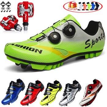 Sapatos de ciclismo dos homens mtb bicicleta de estrada sapatos de ciclismo de montanha tênis de corrida profissional sapatos de desporto 1