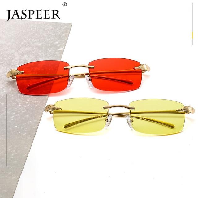 2020 Fashion Rectangle Sunglasses Women Rimless Small Lens Sunglasses Classical Alloy Metal Sun Glasses Men UV400 2