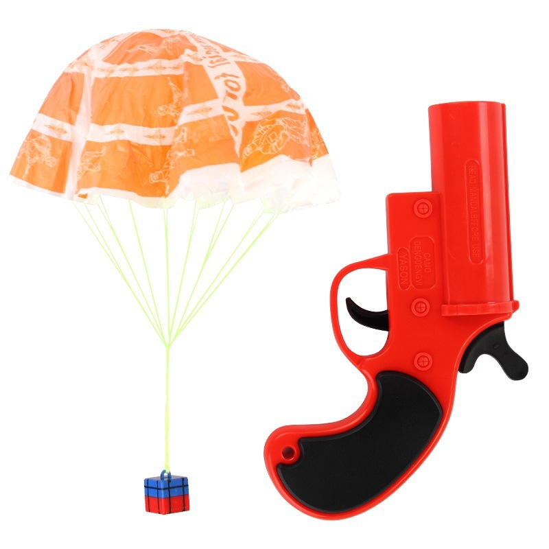 Eating Chicken For Rescue Signal Launching Parachute Jedi Survival Airdrop Parent-Child Interactive Toy Gun Gift