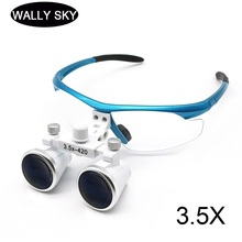 3.5X Dental Loupes with Eyeglasses Frame Wearing Magnifier Surgical 420 mm Dental Equipment Surgical Dentists Magnifying Glasses 2018 hot sell dental equipment 2 5x dental loupes dental surgical magnifying glass dental surgical loupes with asin