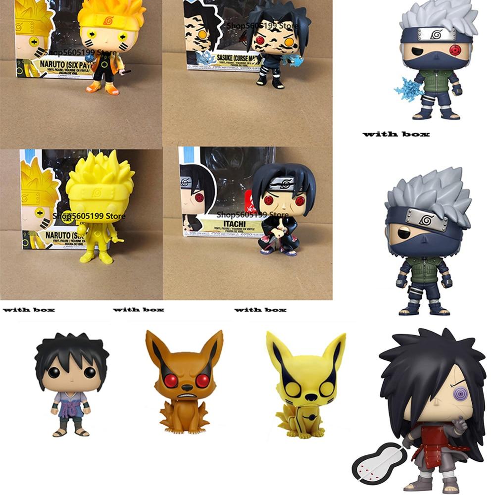pop NARUTO Sasuke kurama ITACHI KAKASHI with box Figure Toys Collection model toy for children|Action & Toy Figures| - AliExpress