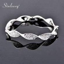 SINLEERY Luxurious Crystal Bracelet Rose Gold Silver Color Women's Bracelets Fashion 2021 Wedding Jewelry Sl263 SSK