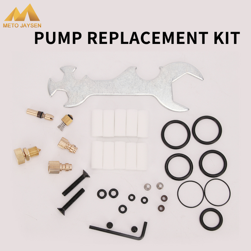 High Pressure Pump Replacement Kit Spare Parts Fix Box Copper Piston Wrench Bleeder Screw Air Pump Accessories Kits 37pcs/set
