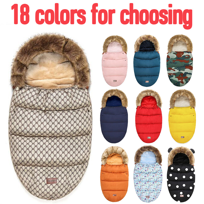 Baby Stroller Sleeping Bag Winter Warm Sleepsacks Robe For Infant Wheelchair Envelopes For Newborns Baby Winter Travel To Keep