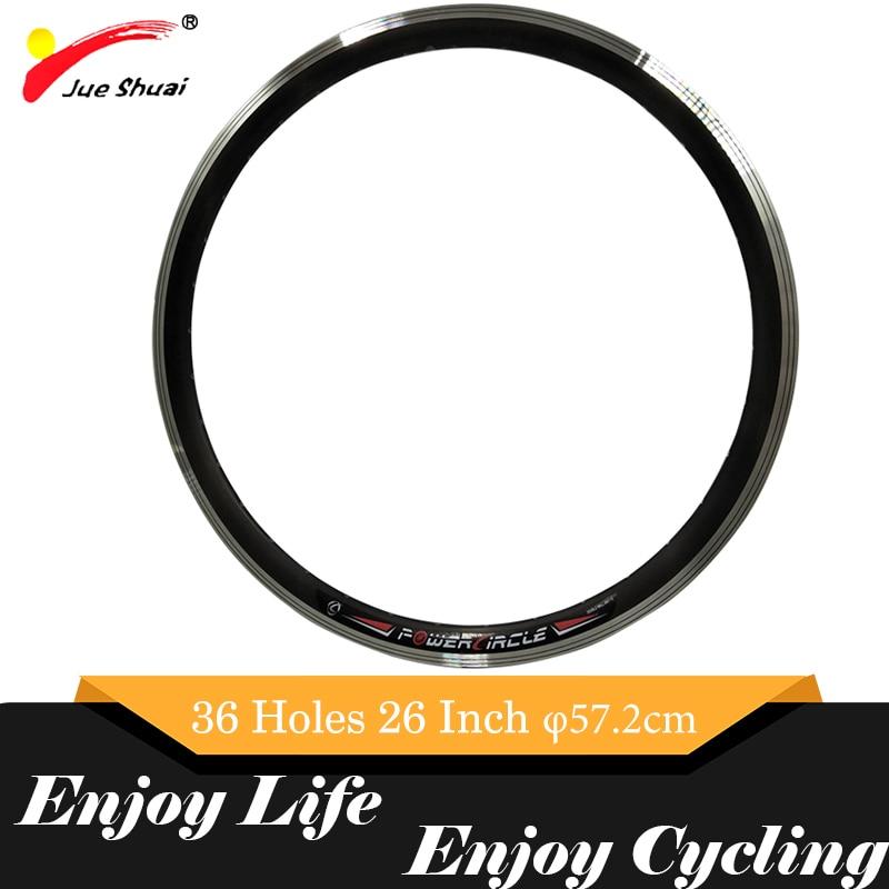 """16 """"20"""" 24 """"26"""" 700C 28 """"jante de roue de vélo de route vtt alliage d'aluminium 36 trous applicables vélos de montagne 57.2cm diamètre accessoire"""
