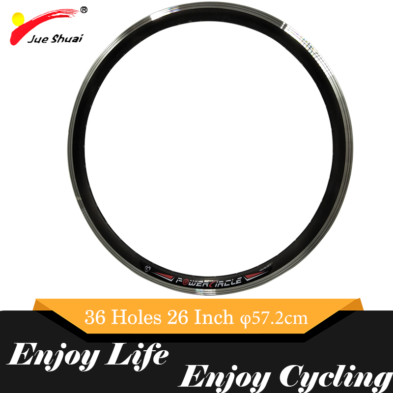 "16"" 20"" <font><b>24</b></font>"" 26'' 700C 28"" Road Bike Wheel <font><b>Rim</b></font> MTB Aluminum Alloy 36 Holes Applicable Mountain Bicycles 57.2cm Diameter Accessory image"