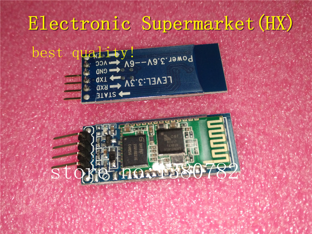 Free shipping! 10pcs HC06 <font><b>HC</b></font>-<font><b>06</b></font> Wireless Serial 4 Pin Bluetooth RF Transceiver Module RS232 TTL for Arduino bluetooth module image