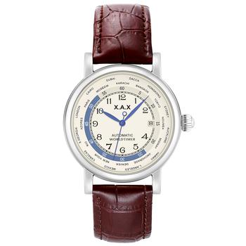 Czas na świecie automatyczny zegarek self-wiatr zegarki mężczyźni luksusowe zegarki mechaniczne wodoodporne duże zegarki tanie i dobre opinie X A X 3Bar Klamra Luxury ru Automatyczne self-wiatr 26cm STAINLESS STEEL Stoper Odporny na wstrząsy Auto data Pływać