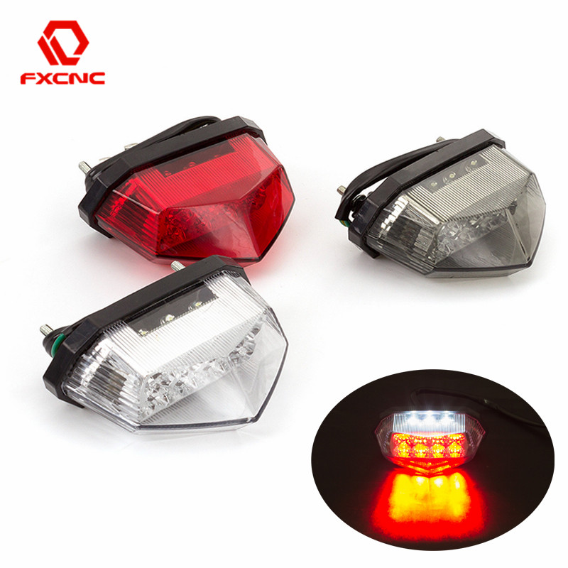 Motorcycle Tail Light LED 12V Moto Rear Light License Plate Light Flasher Taillight Signal Stop Lamp for Universal motorcycle|  - title=