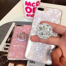 Держатель телефона с кольцом на палец Bling Air Bag Diamond SmartPhone Stander для iPhone samsung Универсальное расширяющееся крепление для автомобиля