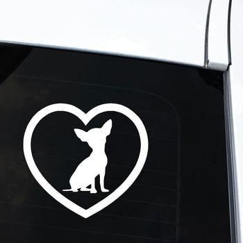 Cute Chihuahua Dog Heart sticker 2