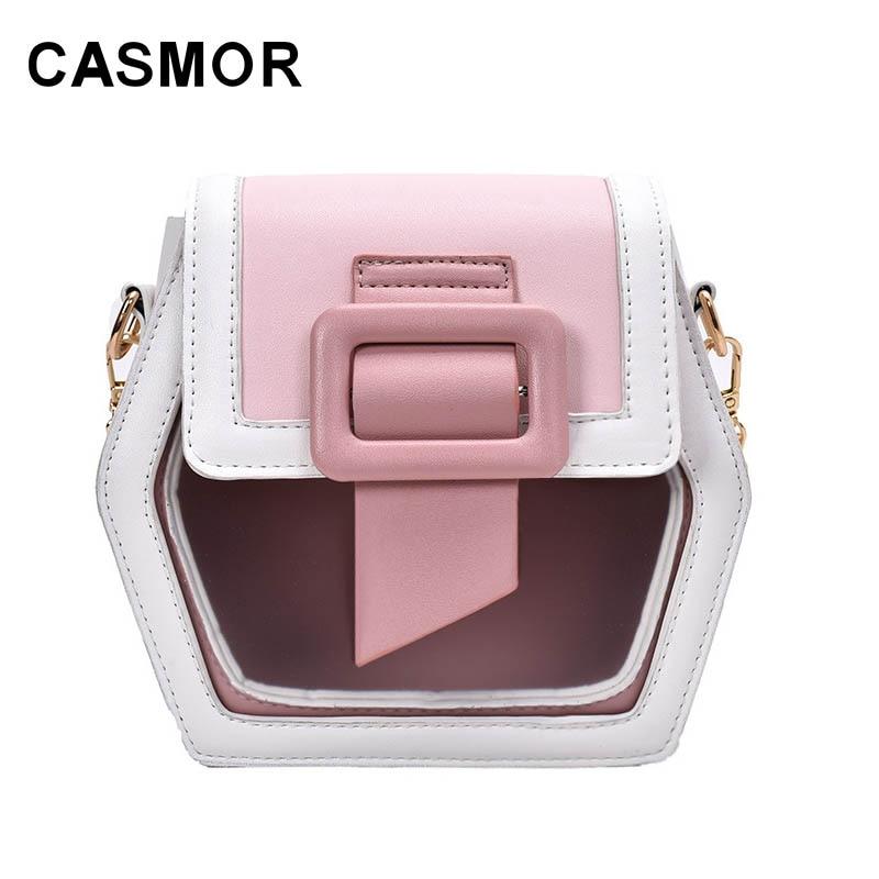 Casmor Women Mini Bag  2020 New Fashion Chain Shoulder Bag Patchwork Pu Shoulder Bag Ladys Handbag Crossbody Bags For Women