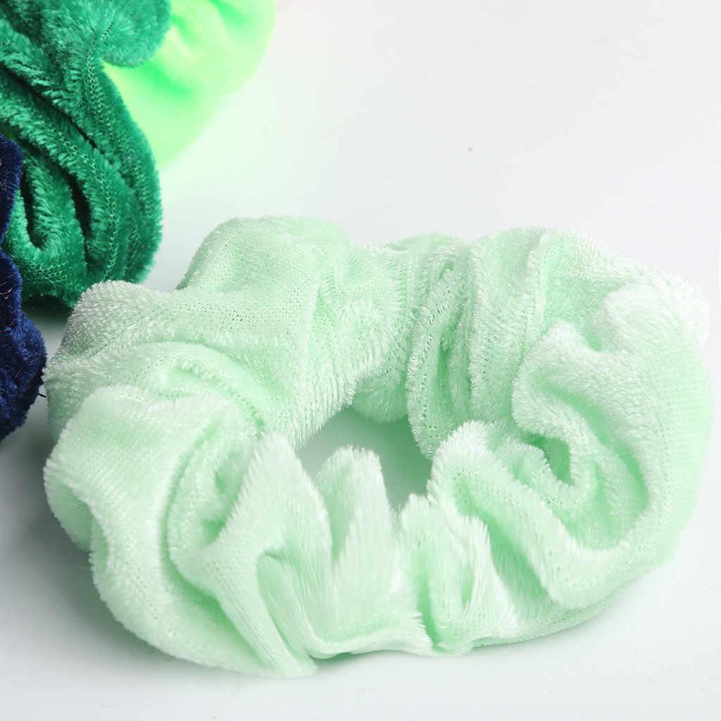 30 adet kadife düz Scrunchies elastik basit saç bantları kadınlar veya kızlar için saç aksesuarları diademas para el pelo mujer 30H