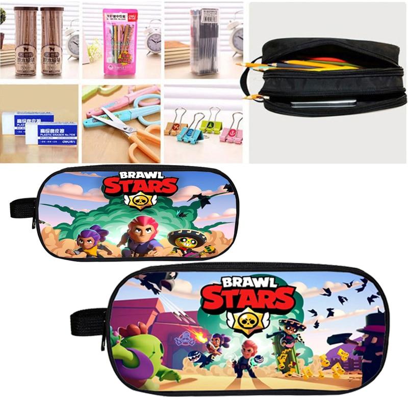 Pencil-Bag Cosmetic-Cases Stars-Bag Cartoon-Box Stationary Back-To-School-Supplies Brawl