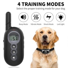 Dog Training Collar Wireless Remote Control Anti-Bark Pet Collar Vibration Buzzer Waterproof Electric Shock Suitable For 1-2 Dog