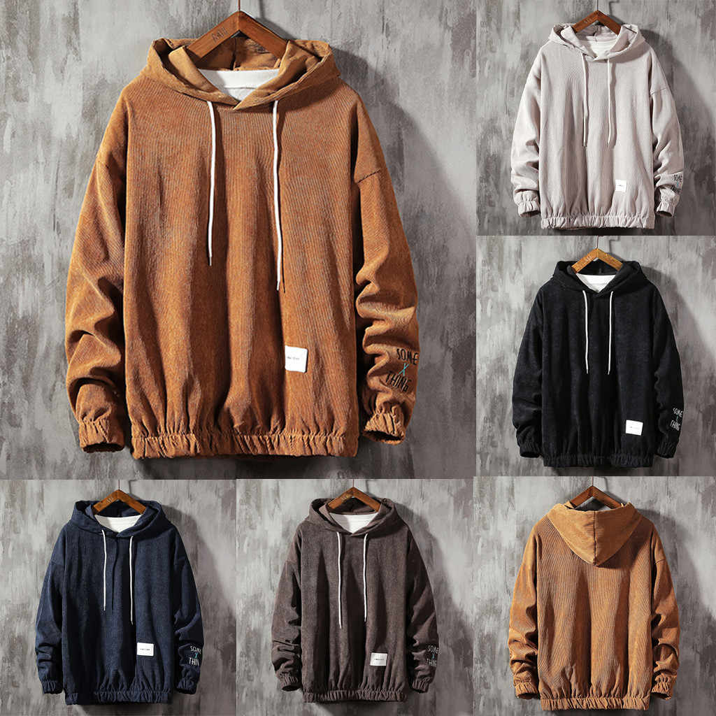 Mannen Casual Mode Sweatshirts Pure Pullover Lange Mouw Sweatershirt Tops Hooded Streetwear Sweatshirts Hip Hop #45
