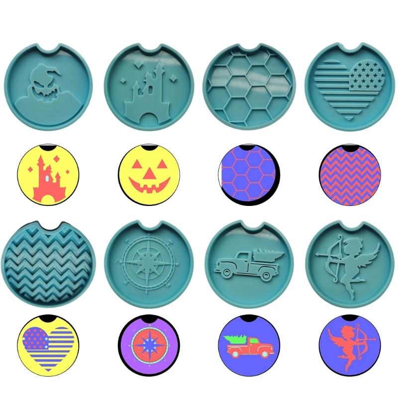 Coaster силиконовая форма «сделай сам» ручной работы чашки коврик слесарный с украшением в виде кристаллов эпоксидная смола, форма