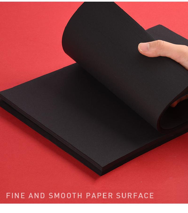 50pcs/100pcs/lot A3 A4 A5 Black Kraft Paper DIY Card Making 120g 150g 180g 250g 300g 400g Craft Paper Thick Paperboard Cardboard
