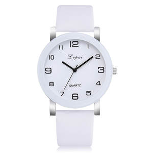 Clock Watch Leather-Band Sport Women's Ladies Quartz Female Girl Relogio Lvpai Analog
