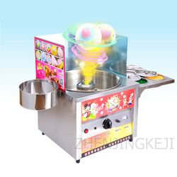 LP-H1 Cotton Candy Machine Commercial Gas Electric Fancy Brushed Multicolored Glow Marshmallow Machine Food Processor Machinery