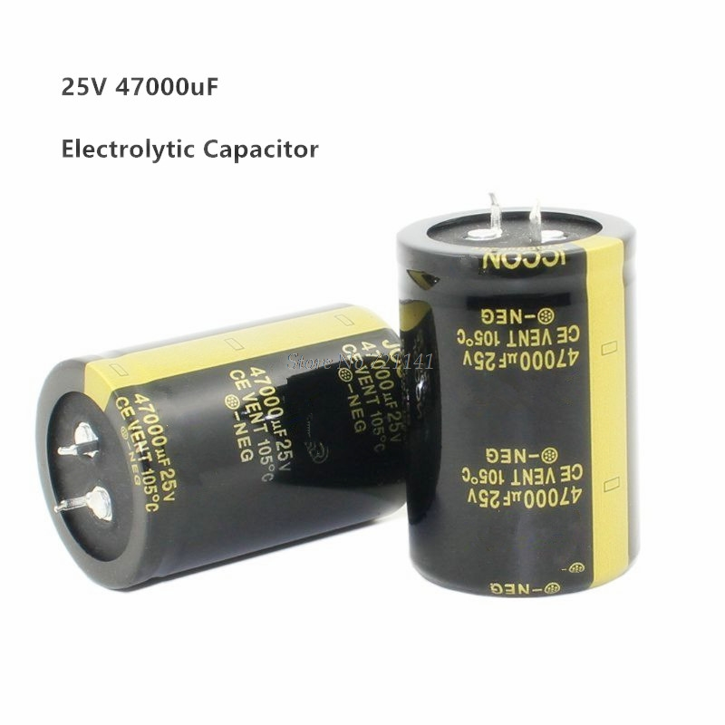 25V 47000uF 35X50mm Aluminum Electrolytic Capacitor High Frequency Low Impedance Through Hole Capacitor Size 35*50mm Dropship
