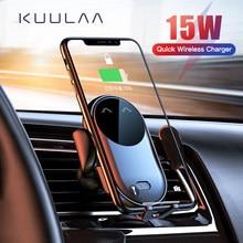 KUULAA 15W chargeur sans fil support de voiture pour prise d'air support pour téléphone Intelligent infrarouge rapide chargeur de charge sans fil