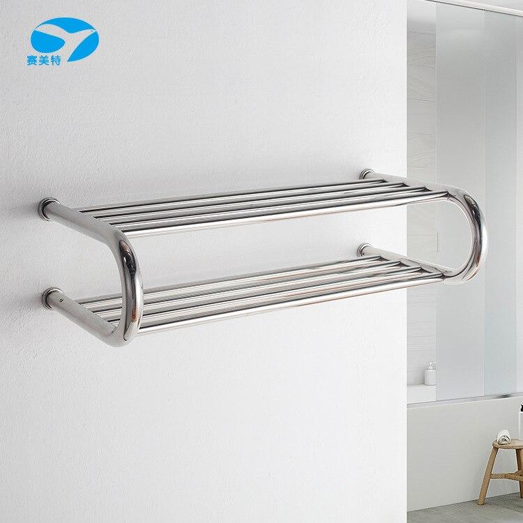Электрический Полотенцесушитель сантехника сушилка из нержавеющей стали для ванной комнаты вешалка для полотенец Полка для хранения 304