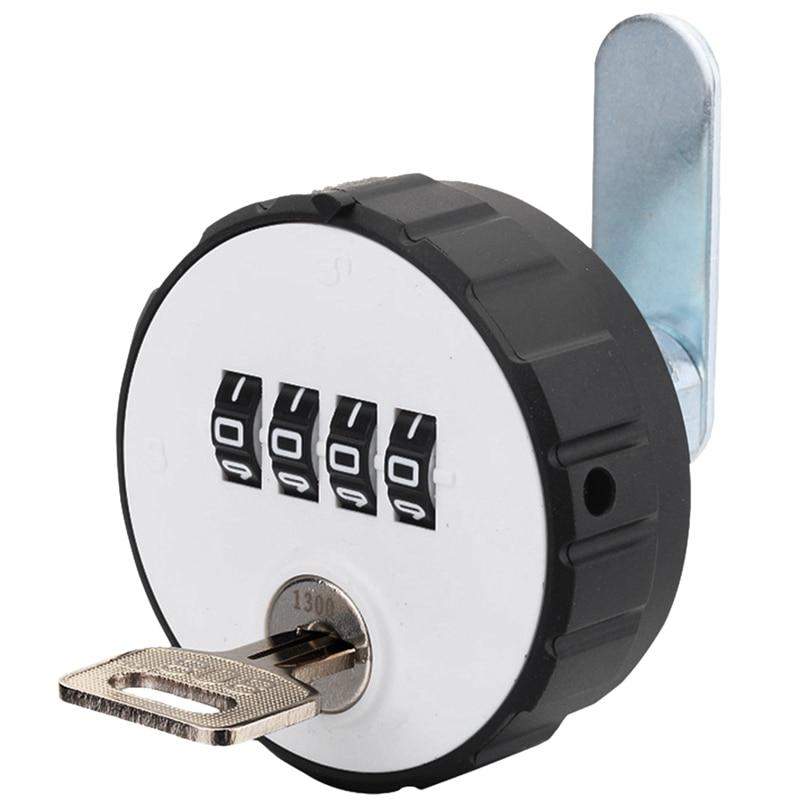 Combination Cabinet Cam Lock 4 Digital Locker Round Mechanical Cam Lock Key Double Open Code Lock
