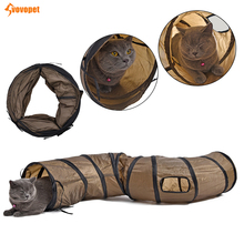 Funny Collapsible pet cat tunnel tube S shape 2 Holes crinkle cat toy with ball bell Kitten dogPuppy Rabbit cat play tunnel 8in1 cat stain and odor exterminator nm jfc s