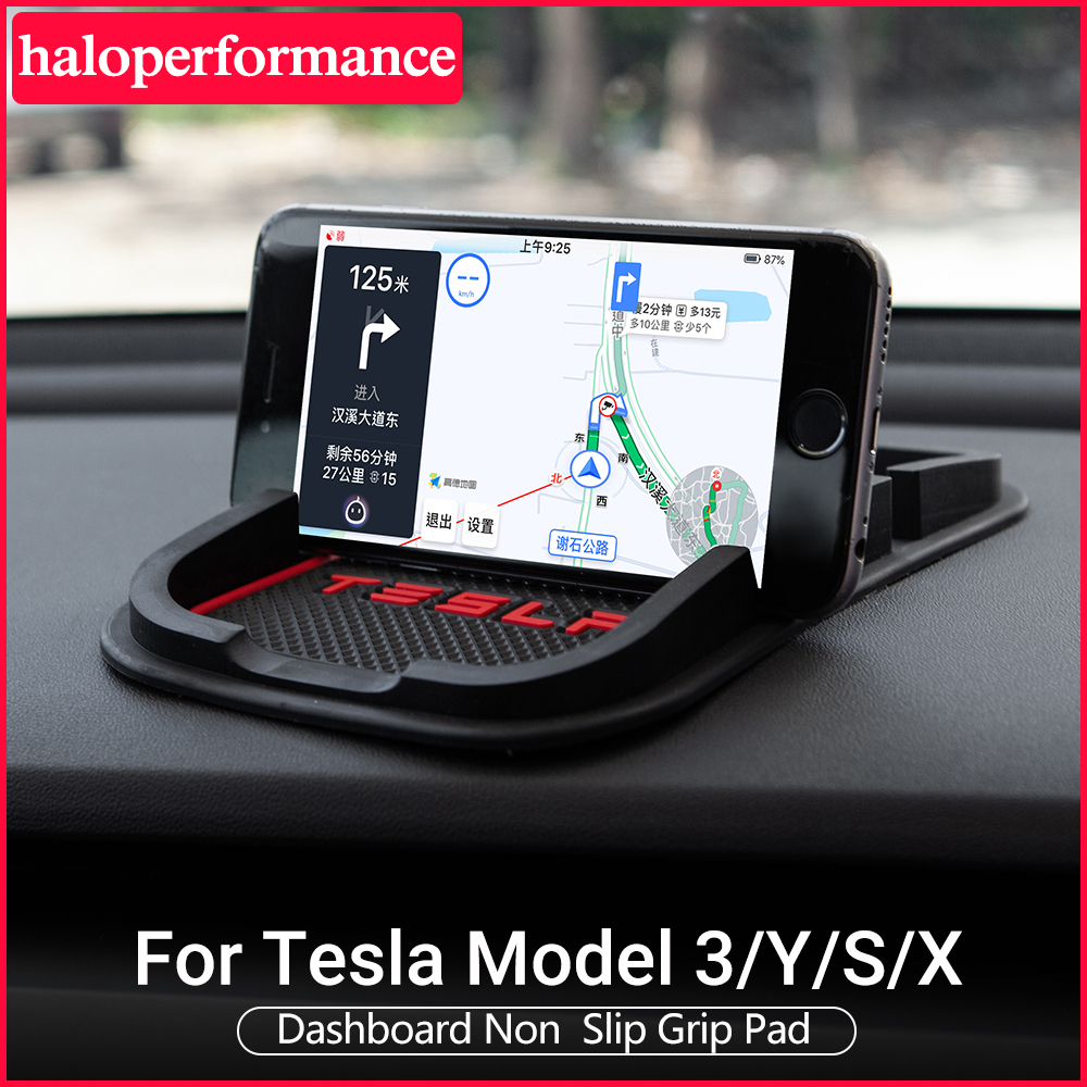 Model3 Tesla Phone Mat Anti-skid Silicone Mat For Tesla Model 3 Accessories Model 3 Tesla Model S X Tesla Model Y Model Three