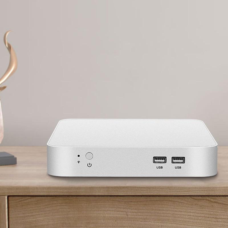 Mini PC Intel Celeron N3150 Quad-Core Windows 10 Thin Client Mini Desktop PC Gaming HDMI VGA WiFi HTPC TV BOX EU Plug