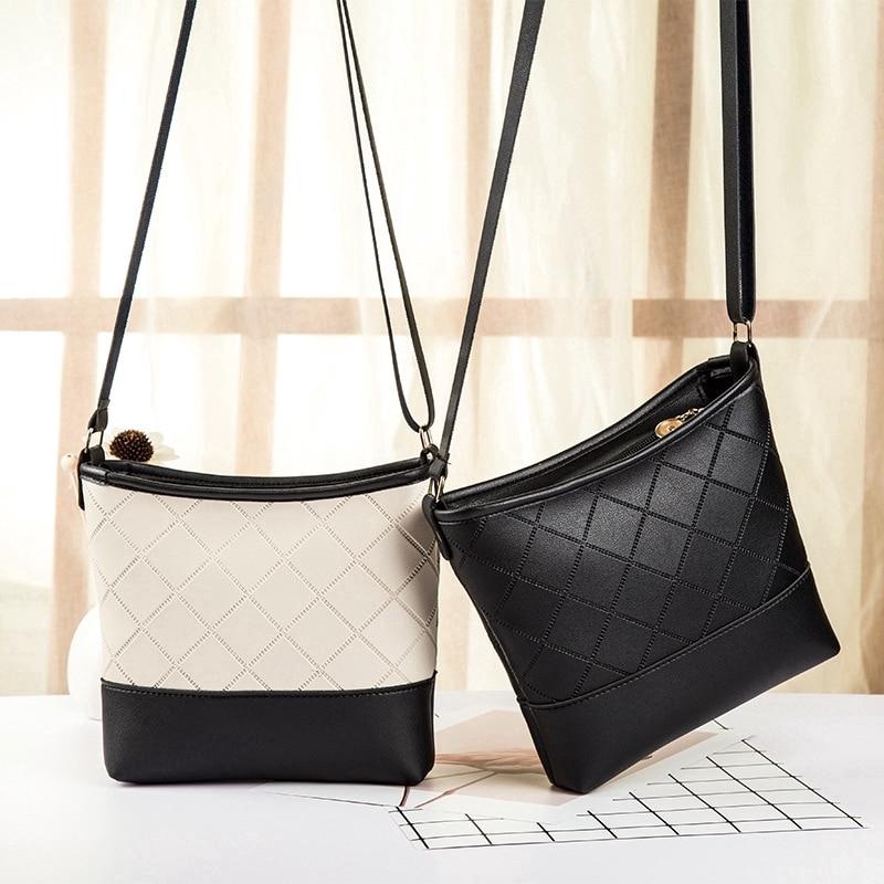 Bucket Bag Crossbody Bags For Women 2019 Leather Shoulder Bag Women Handbags Ladies Sling Bags Diamond Lattice