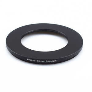 Image 2 - Wholesale 67mm 43mm Step Down Metal lens filter Adapter Ring/67mm Lens to 43mm UV CPL ND Accessory
